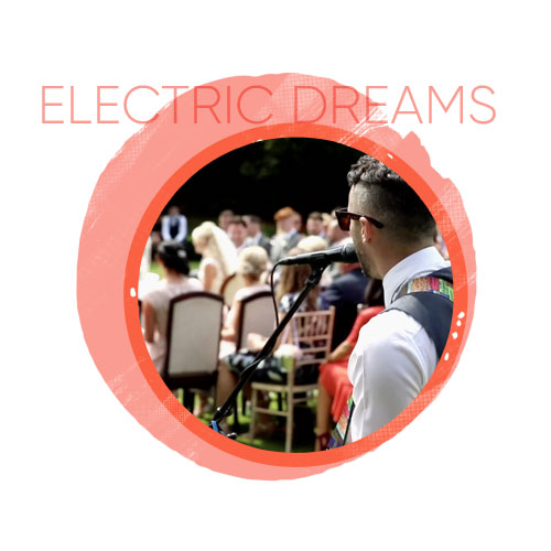 wedding entertainment with electric dreams