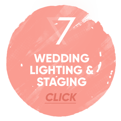 wedding lighting and staging