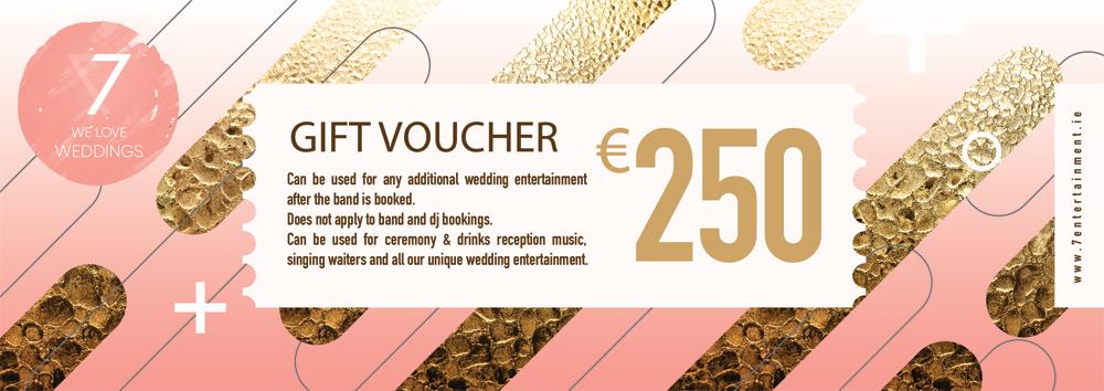 wedding entertainment gift voucher